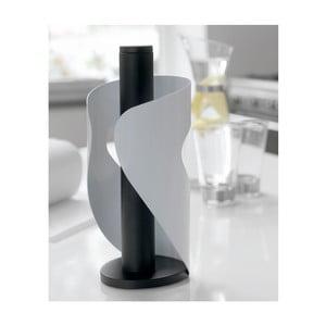 Biało-czarny stojak na ręczniki papierowe Steel Function Pisa