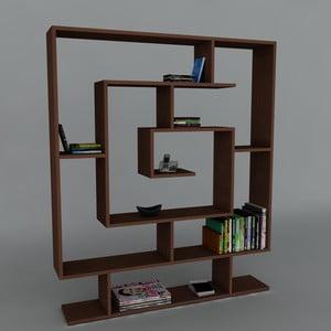 Biblioteczka Samasik Wenge, 22x124,8x149,4 cm