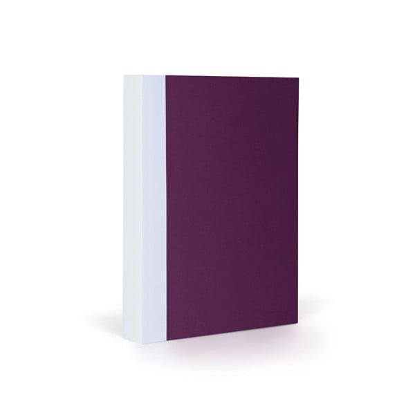 Notes FANTASTICPAPER A6 Aubergine/White, gładki