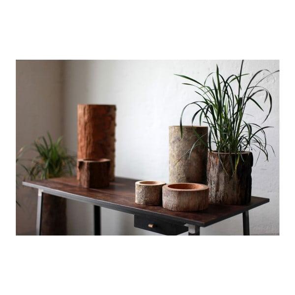 Palmowa świeczka Legno Black Wood o zapachu miodu, 80 godz.