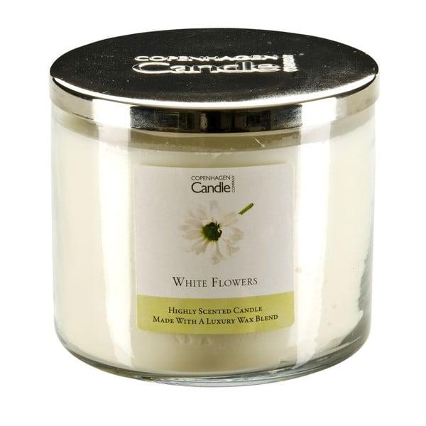 Świeczka zapachowa Copenhagen Candles White Flowers,czas palenia 50 godz.