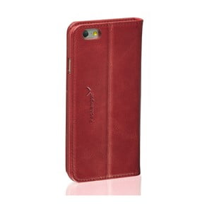 Ciemnoczerwone etui skórzane na iPhone 5/5S Packenger