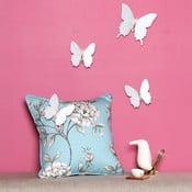 Zestaw 12 naklejek 3D Ambiance Fanastick Diamond White Butterflies
