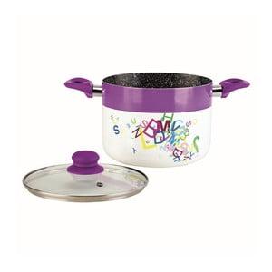 Garnek Spagetti Purple z pokrywką
