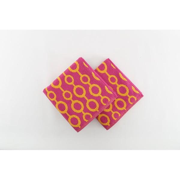 Zestaw 2 ręczników Crazy Vibes Orange, 50x100 cm