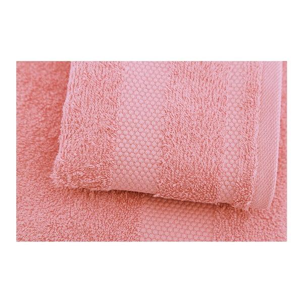 Zestaw 2 różowych ręczników Clio