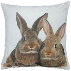 Poduszka Two Brown Rabbits 50x50 cm