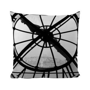 Poduszka Black Shake Big Clock, 50x50 cm