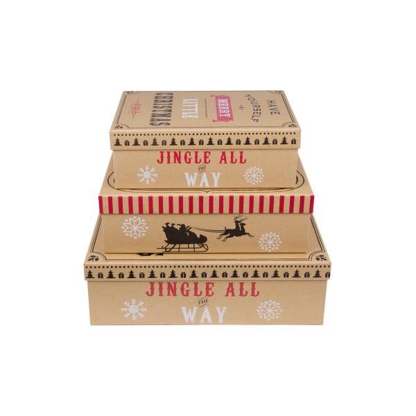 Zestaw 3 szt. pudełek Tri-Coastal Christmas Cookie
