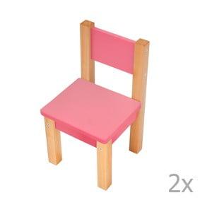 Różowe krzesło dziecięce Mobi furniture Mario