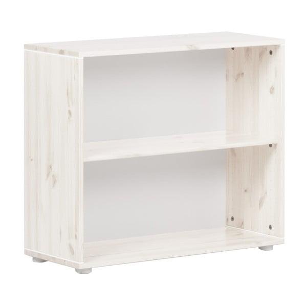 Biała szafka dziecięca z drewna sosnowego Flexa Classic, szer. 86 cm