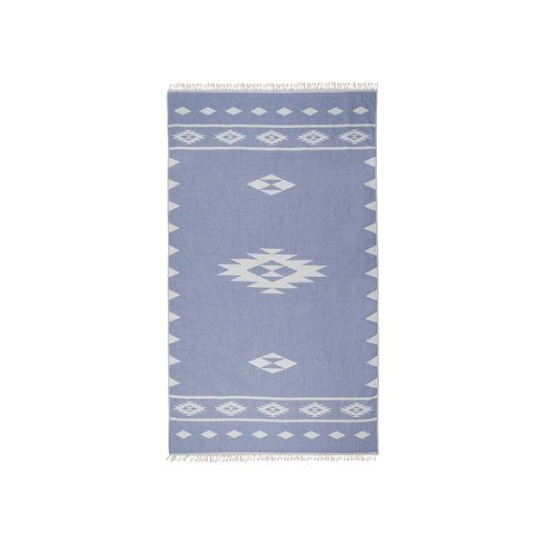 Jasnoniebieski ręcznik kąpielowy dwustronny hammam Alpha