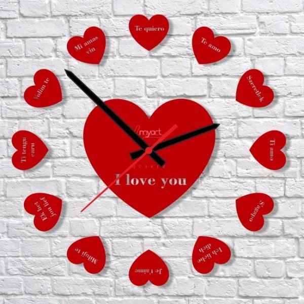 Zegar ścienny Say i Love You