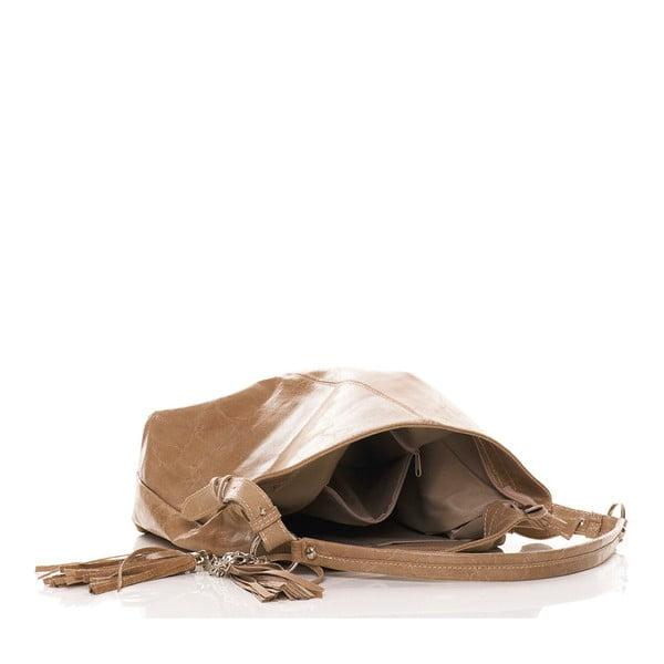 Skórzana torebka Hobo Taupe