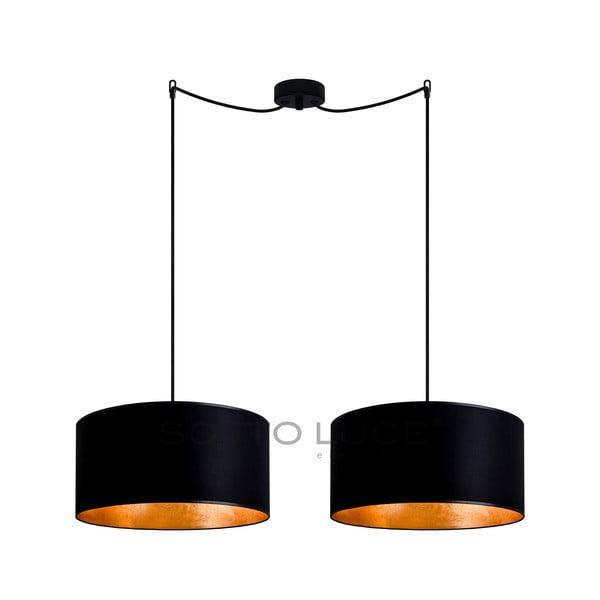 Czarno-złota podwójna lampa wisząca Sotto Luce MIKA