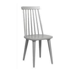 Jasnoszare krzesło do jadalni z drewna kauczukowca Rowico Lotta