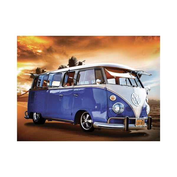 Wielkoformatowa tapeta Niebieski VW, 315x232 cm