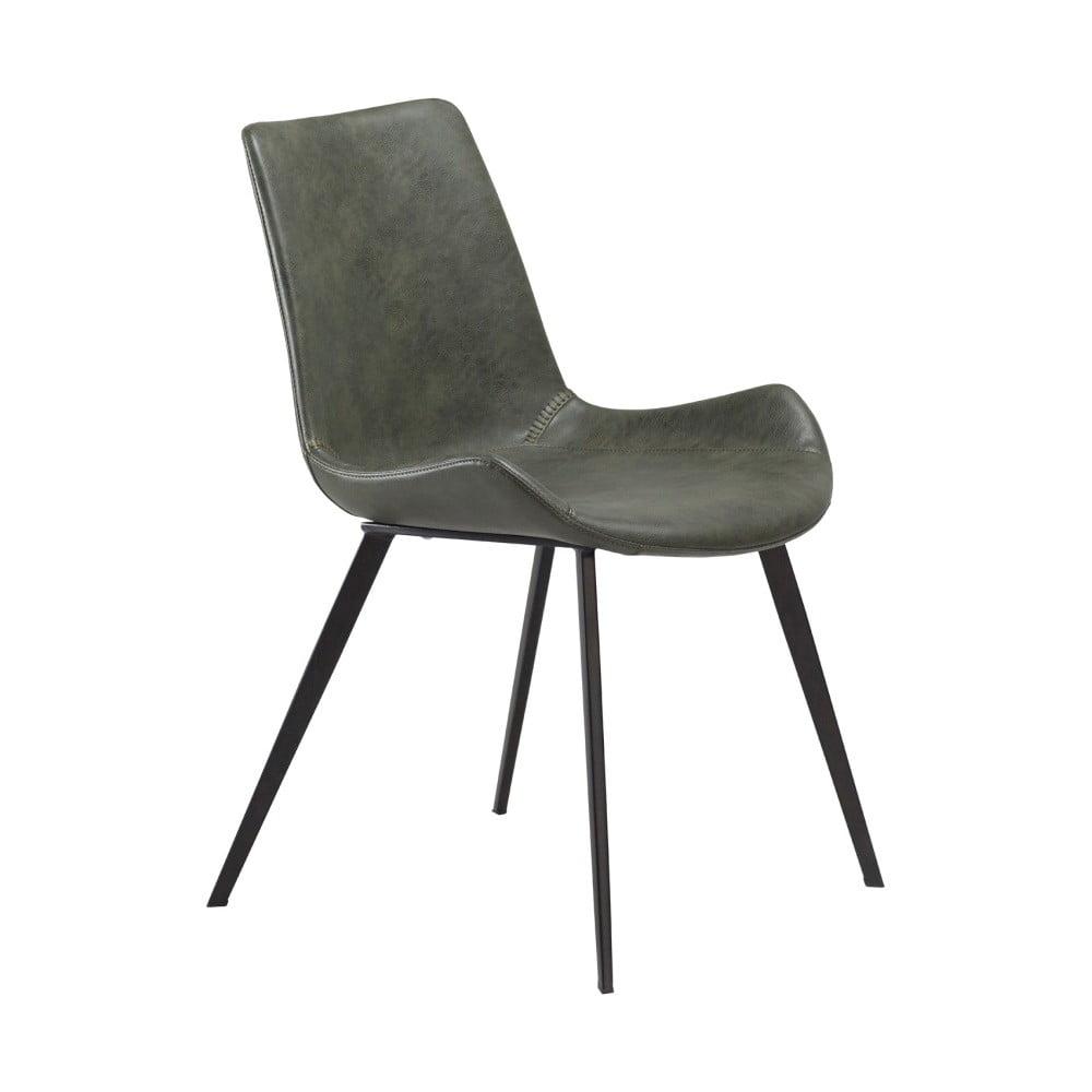 Zielone krzesło DAN–FORM Hype Faux