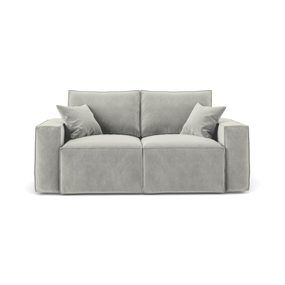 Jasnoszara sofa 2-osobowa Cosmopolitan Design Florida