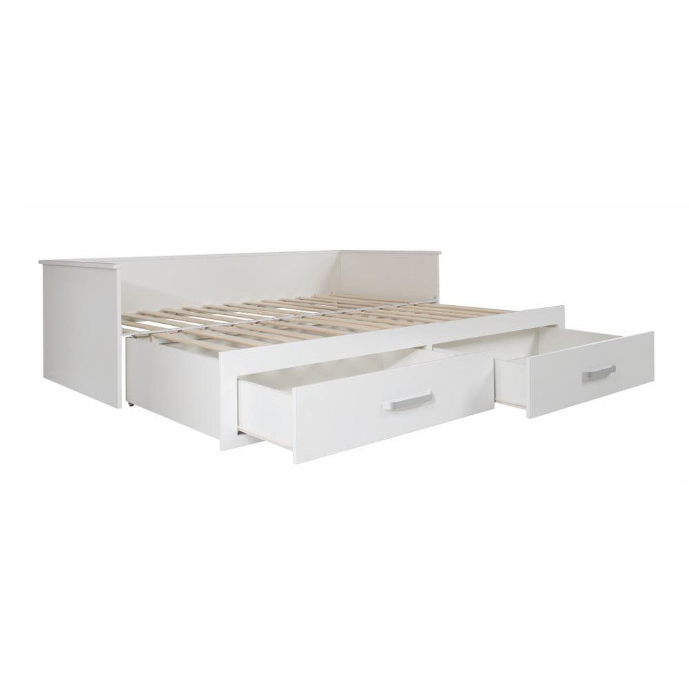 Białe łóżko Rozkładane Z Szufladami Roba Moritz 90180 X 200 Cm Bonami