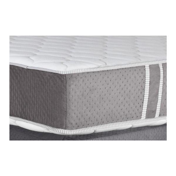 Szare łóżko z materacem Stella Cadente Syrius Forme 160x200 cm