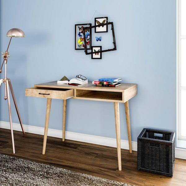 Biurko w dekorze dębowego drewna Carmen
