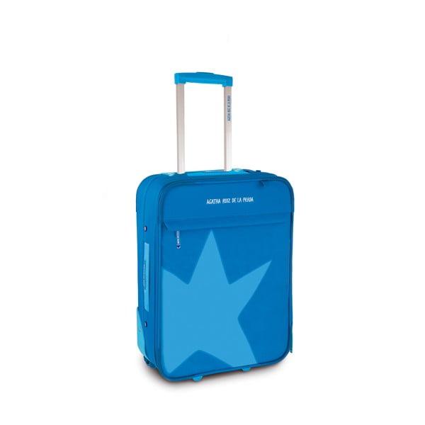 Walizka Agatha 36x50x20 cm, niebieska