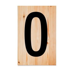Drewniana tabliczka Letters O