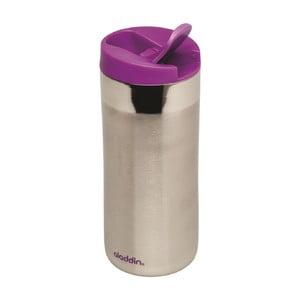 Kubek termiczny Flip Sea 350 ml, fioletowe wieczko