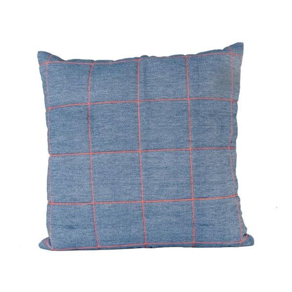 Niebieska poduszka ETH Grid, 45x45cm