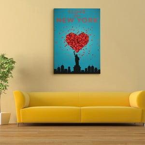"""Obraz na płótnie """"I love New York"""", 50x70 cm"""