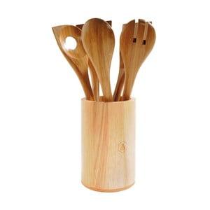 Komplet drewnianych przyborów kuchennych z pojemnikiem Laguiole Iréné