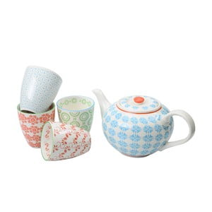 Porcelanowy zestaw do herbaty Animal Colored Blue