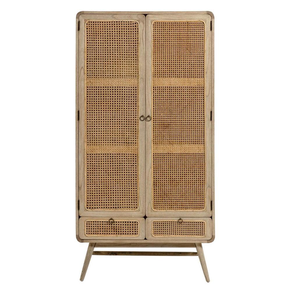 Jasnobrązowa szafka z półkami La Forma Nalu, 90x75 cm