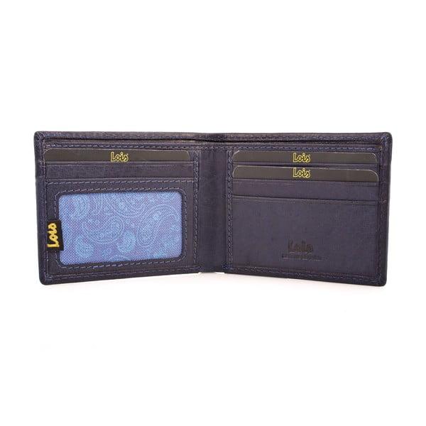 Skórzany portfel Lois Navy, 10,5x7,5 cm