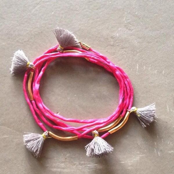 Długi naszyjnik/bransoletka Kasbah Pink