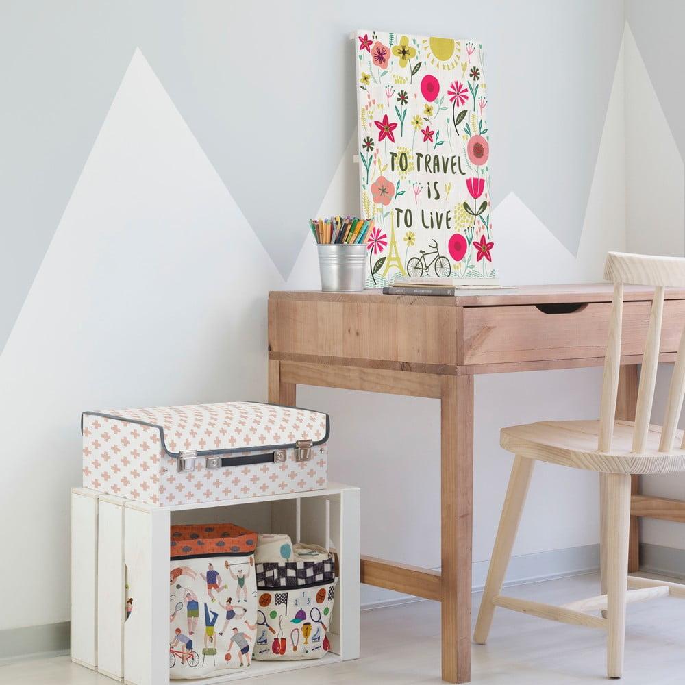 obraz na drewnie little nice things travel 60x40 cm bonami. Black Bedroom Furniture Sets. Home Design Ideas