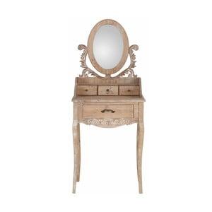 Mała toaletka z drewna sosnowego se zrcadlem Støraa Dior