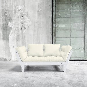 Sofa rozkładana Karup Beat White/Natural