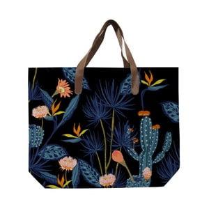 Czarna pleciona torba z nadrukiem Surdic Cactus