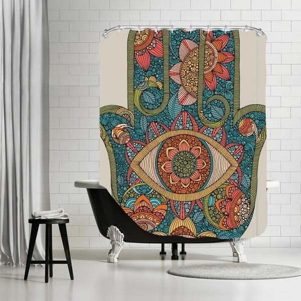Zasłona prysznicowa Hamsa, 180x180 cm