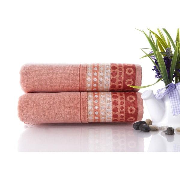 Zestaw 2 ręczników Golf Pinkish Orange, 50x90 cm
