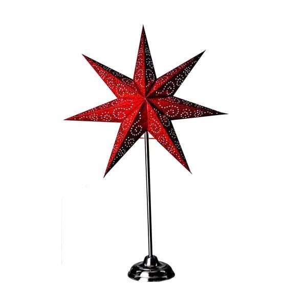 Świecąca gwiazda ze stojakiem Antique Red, 70 cm