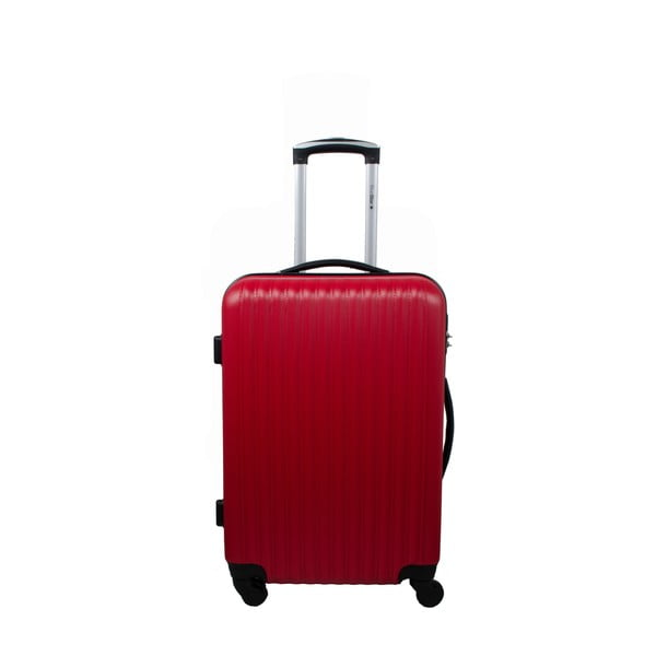 Zestaw 3 walizek Roues Cadenas Red, 105 l/72 l/40 l
