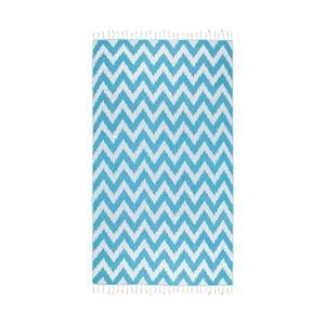 Turkusowy ręcznik hammam Kate Louise Laila, 165x100cm