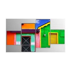 Czteroczęściowy obraz Color House, 50x100 cm