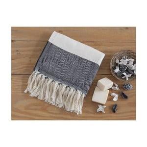 Czarny ręcznik Hammam Baliksirti , 100x180cm