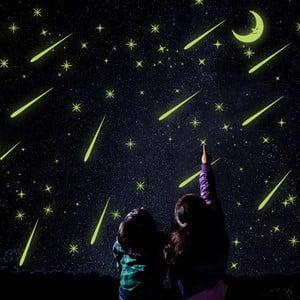 Naklejka świecąca w ciemności Ambiance Falling Stars