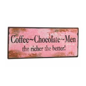 Tablica Coffee-Chocolate-Men, 31x13 cm