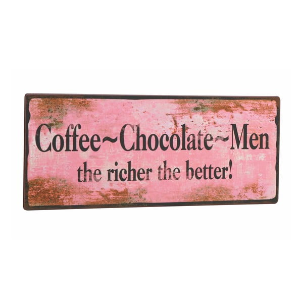 Tablica Coffee-Chocolate-Men, 31x13 cm